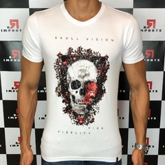 Camiseta R.Clothing Skull Branca