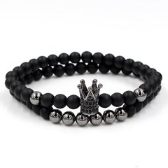 Kit 2x pulseiras Crown Black