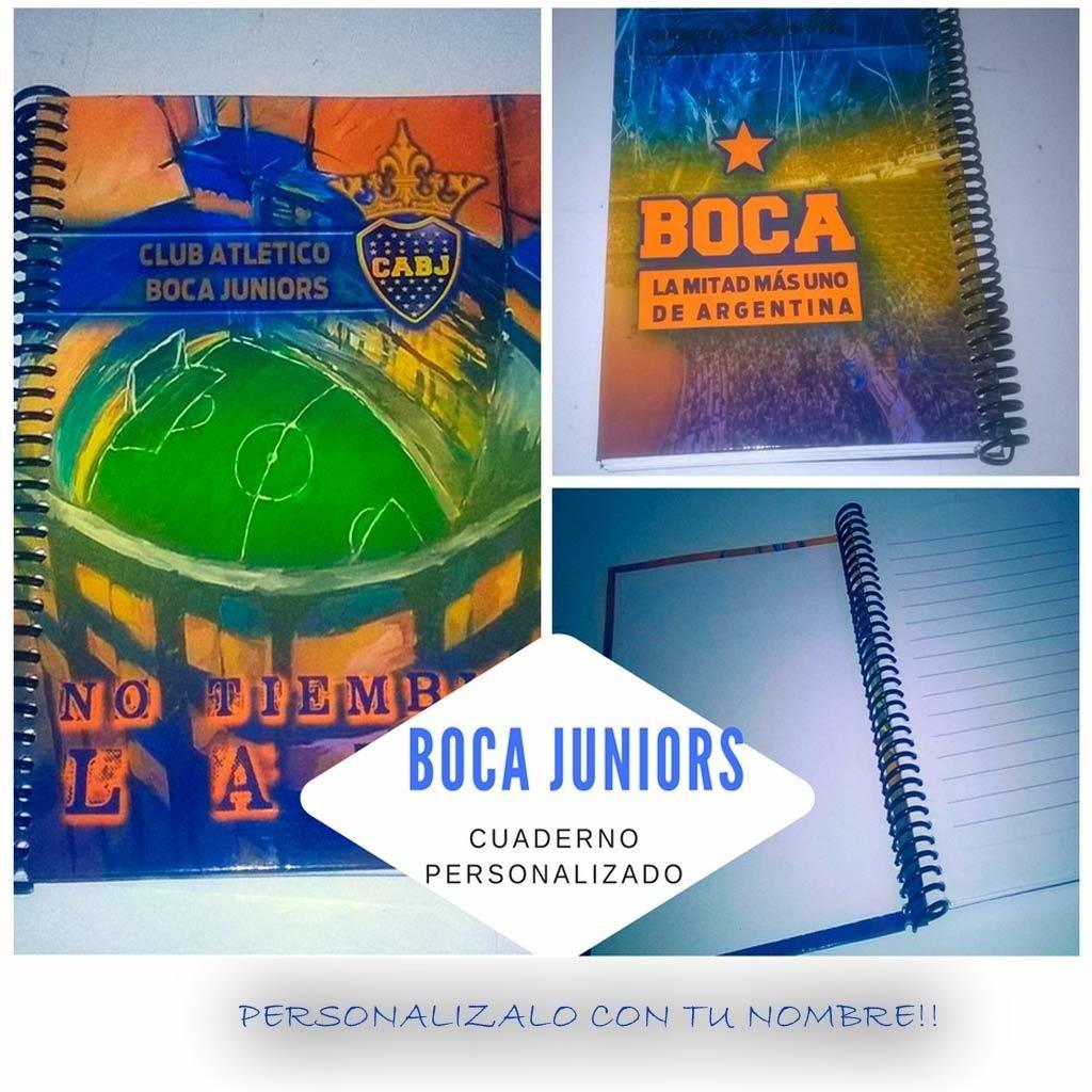 Boca juniors cuaderno personalizado