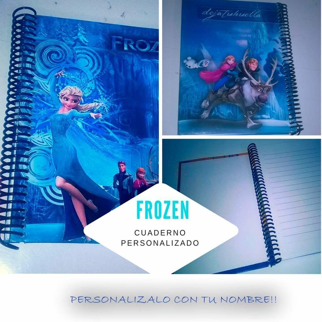 Frozen cuaderno personalizado.