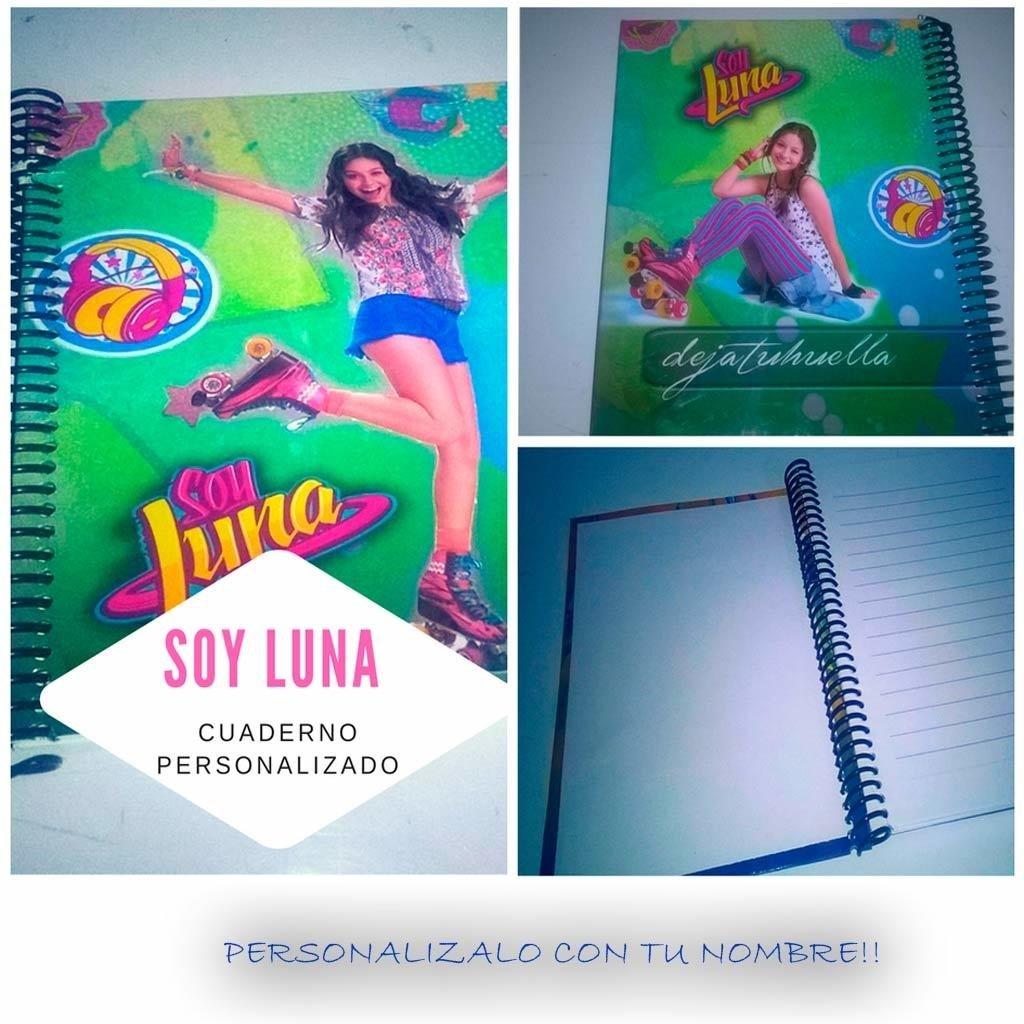 Soy Luna cuaderno personalizado.