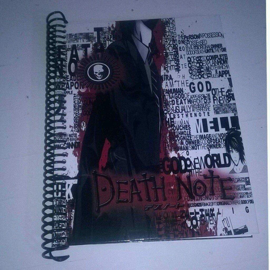 Death Note cuaderno personalizado.