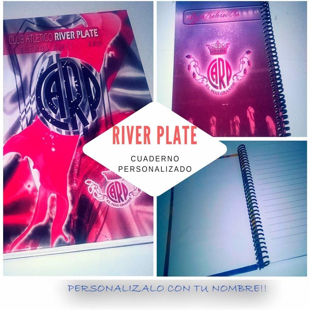 River Plate cuaderno personlizado