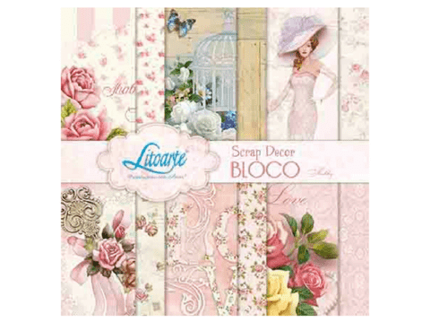 bloco scrap decor shabby litoarte
