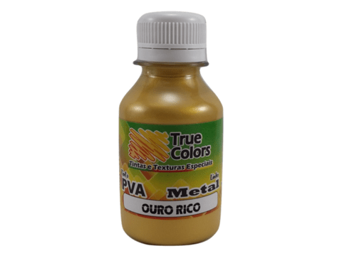 Tinta PVA 100 ml True Colors - Metal Ouro Rico