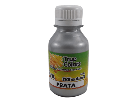 Tinta PVA 100 ml True Colors - Metal Prata