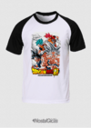 CAMISA RAGLAN GOKU TRANSFORMAÇÕES DRAGON BALL SUPER