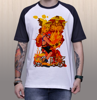 Camiseta One Piece | Ace & Barba Branca