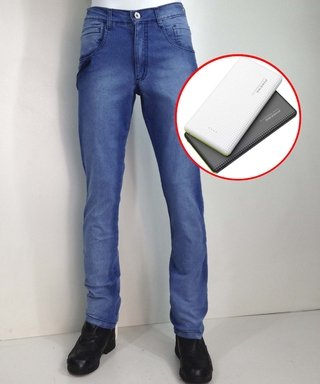 Kit Calça Jeans Masculino Urbano Conectado + Power Bank10000