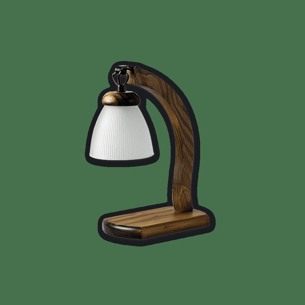 Velador Rustico con tulipa prensada 1 luz