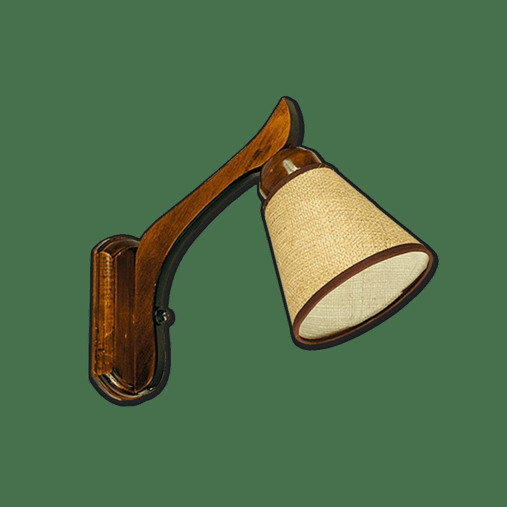 Aplique de pared 1 luz de Madera Con pantalla Arpillera