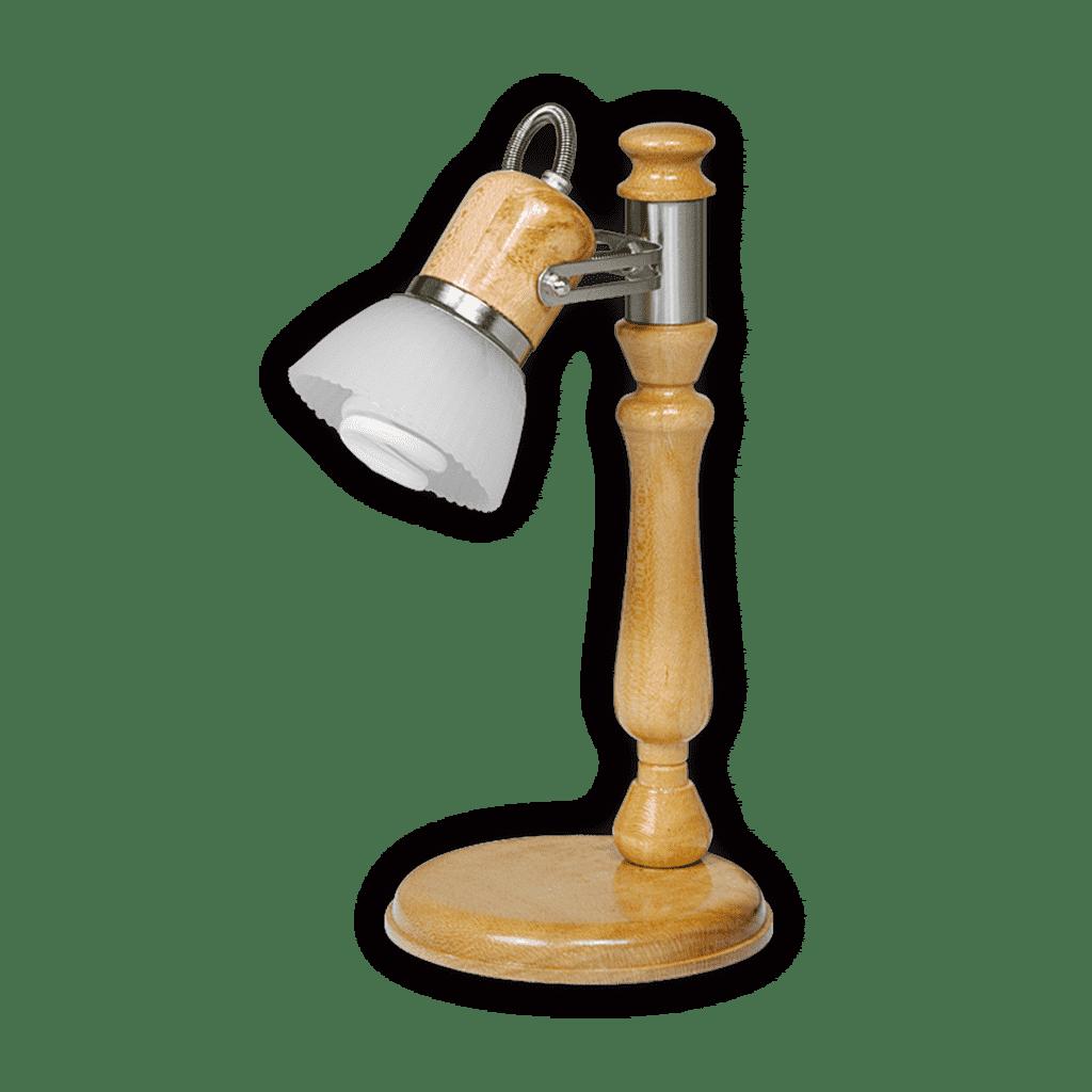 Lampara de Escritorio con movimiento  Madera haya tulipa vidrio
