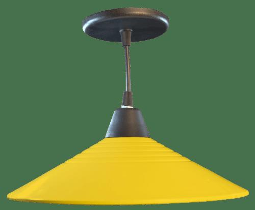 Lampara colgante de techo de chapa y PVC
