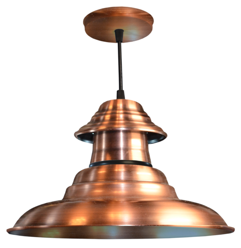 Colgante de Chapa 3 Piezas Campana  galponera platil cobre