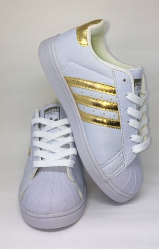 factory price a9ff4 376a6 ... Adidas Superstar - Branco Dourado na internet ...