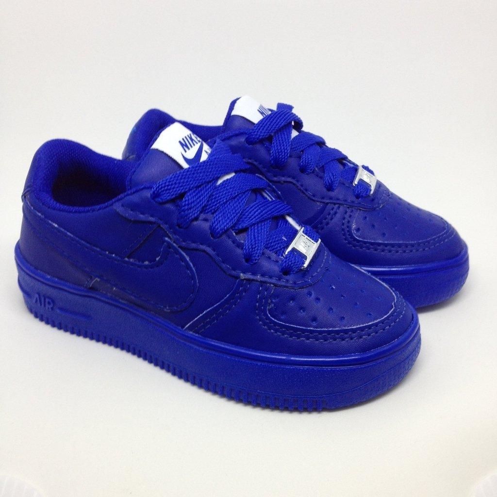 162e568cc99 Nike Air Force 1 Cano Baixo   Azul escuro - Porto Kids