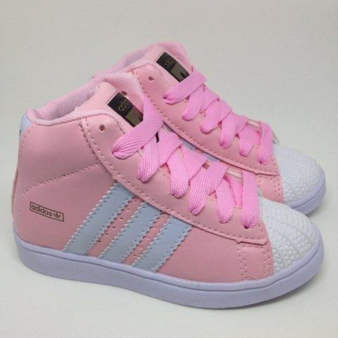 c41593cd309 Adidas. Adidas Superstar cano Alto   Rosa