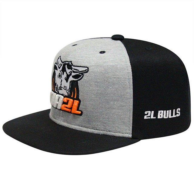 Boné Snapback Cinza e Preto - Comprar em Cia 2L Bulls 0205878425a