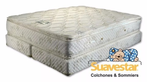 Colchón y Sommier Boreal Bamboo Pillow Top - Resortes Continuos