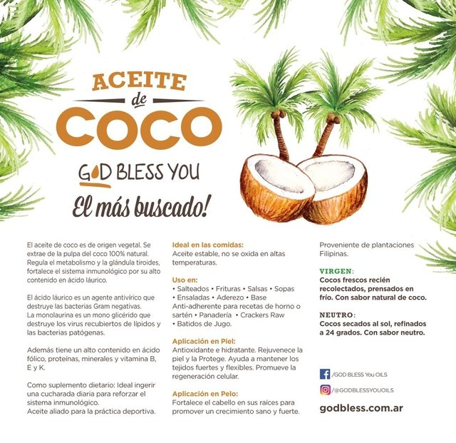 ACEITE DE COCO NEUTRO 500ml en internet