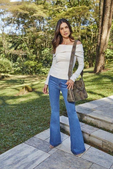 7dd53c4880 Calca Jeans Flare