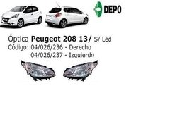 Optica Peugeot 208 Sin Led Reemplazo De Original Depo
