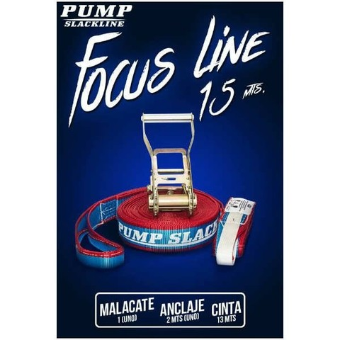 Cinta Slackline Pump Focus - set 15m