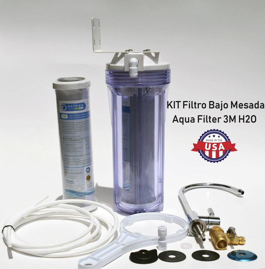 FILTRO PURIFICADOR DE AGUA PARA BAJO MESADA - (Kit Aqua Filter 3M H2O)