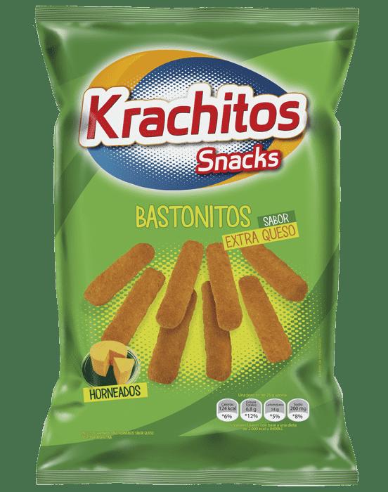 Bastonitos Extra Queso Krachitos por paquete de 300 gramos. Cod. 7794520421300