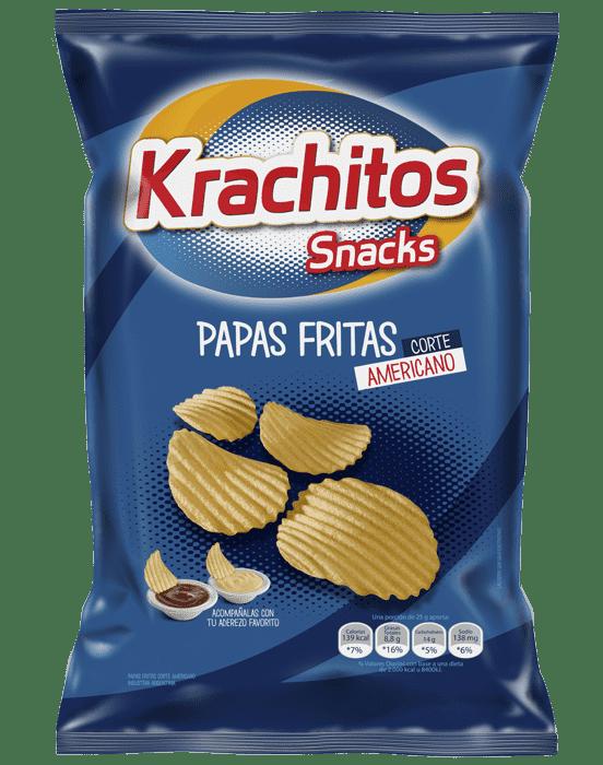 Papas Fritas Krachitos Corte Americano x paquete de 600 gramos Cod. 7794520442602
