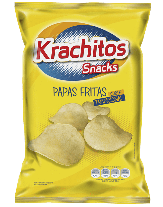 Papas Fritas Krachitos Corte Tradicional x paquete de 120 gramos Cod. 7794520441124