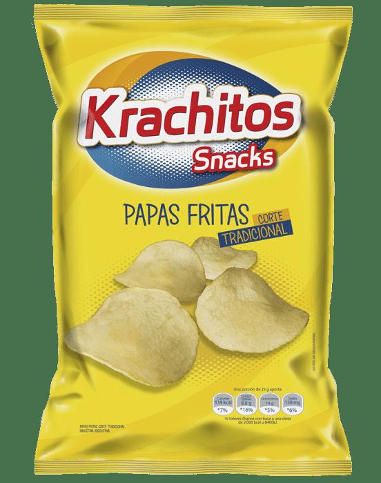Papas Fritas Krachitos Corte Tradicional x paquete de 600 gramos Cod. 7794520441605
