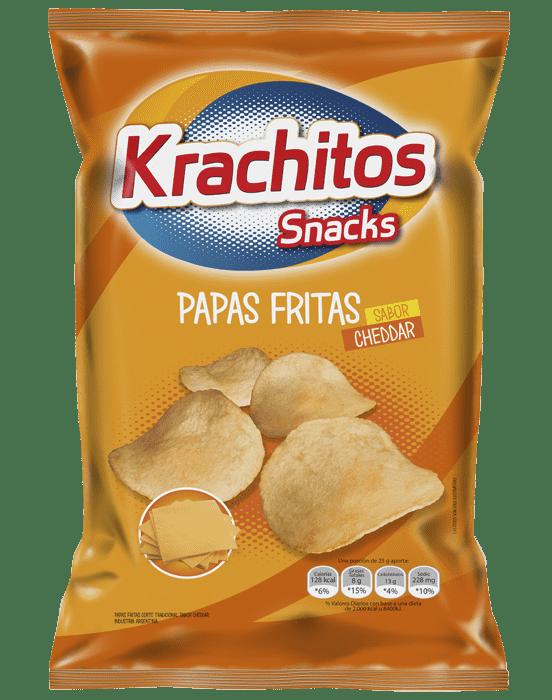 Papas Fritas Krachitos sabor Cheddar por paquete de 65 gramos - Cod. 7794520000796