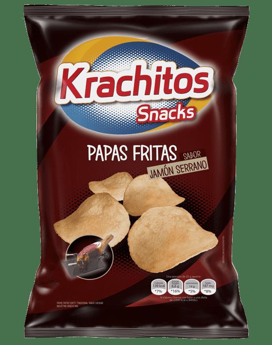 Papas Fritas Krachitos sabor Jamon Serrano por paquete de 55 gramos - Cod. 7794520441261