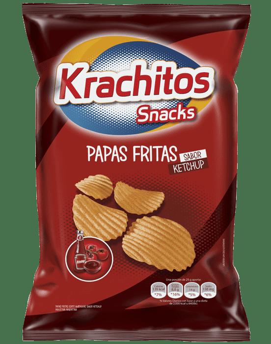 Papas Fritas Krachitos sabor Ketchup x paquete de 65 gramos Cod. 7794520000666