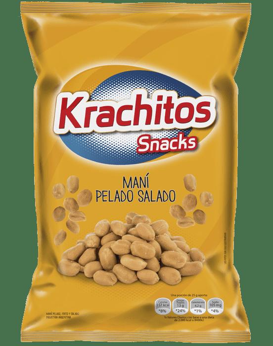 Mani Pelado Salado Krachitos x paquete de 120 gramos Cod. 7794520412216