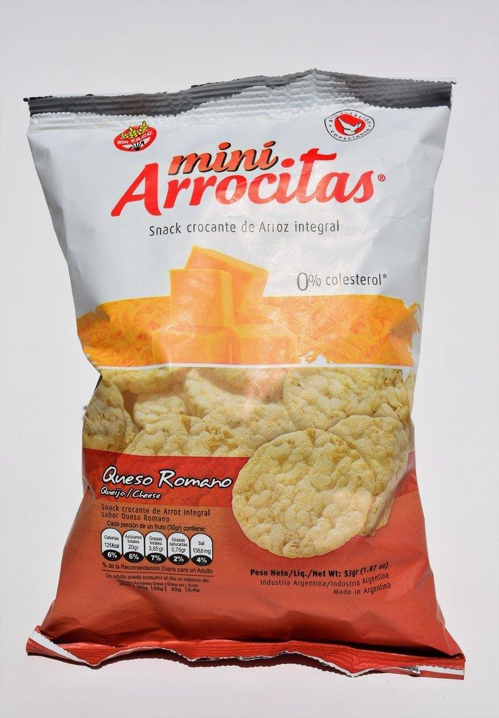 Mini Arrocitas Sabor Queso Romano x paquete de 53 gramos - Sin T.A.C.C. 0% Colesterol - Cod. 7790538