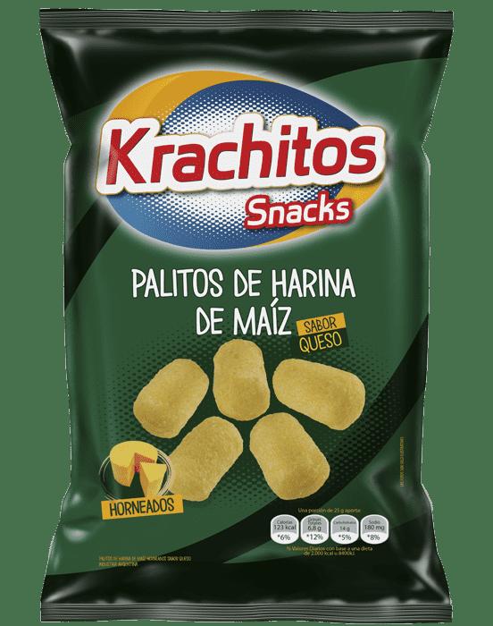 Palitos de Maiz con Queso Krachitos x paquete de 65 gramos Cod. 7794520034050