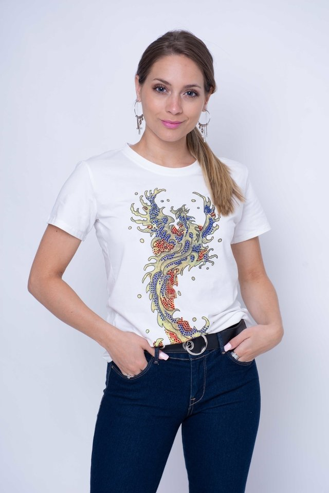 Remera Fire con Brillos Art:3085 - comprar online