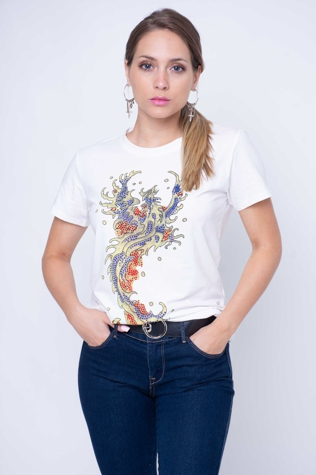 Remera Fire con Brillos Art:3085