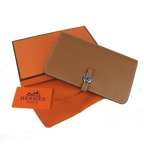 da556912676 Home   CARTEIRAS   HERMES   Carteira de Grife Hermes Marrom - Premium  Italiana. 1