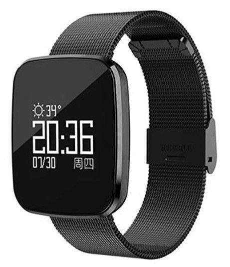 a9a43f95fd6 Smartwatch Relógio Eletrônico CF 007 Metal Pró Saúde Retangular