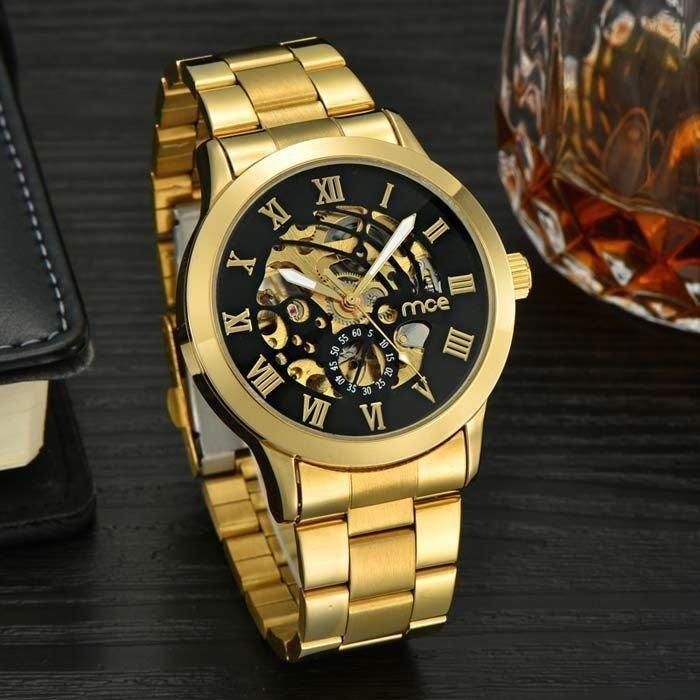 221ed4e1f9d ... online Imagem do Relógio MCE Gold Luxo ...