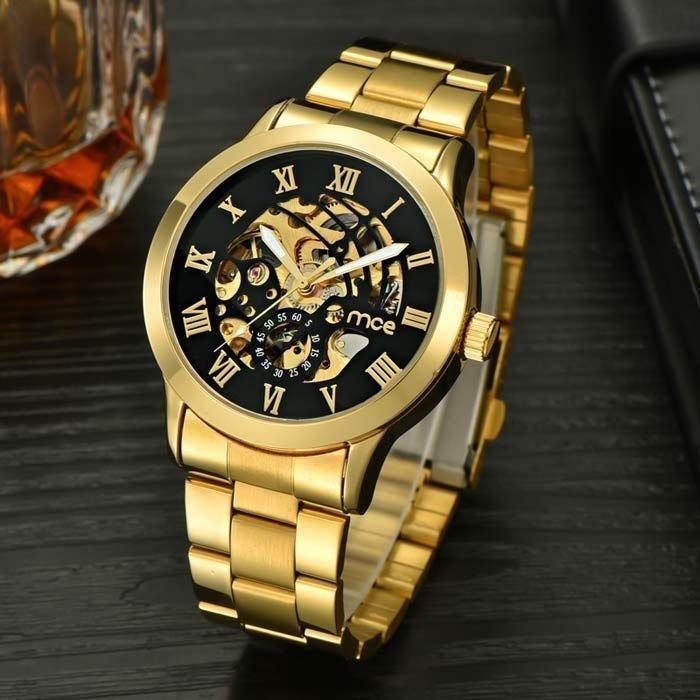 50341edf714 Relógio MCE Gold Luxo