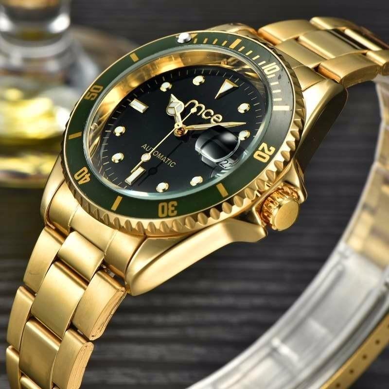 54e273869e4 Relógio Mce Automático Gold Black