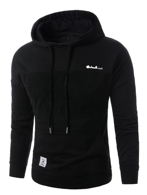 Sudadera bordada en panel