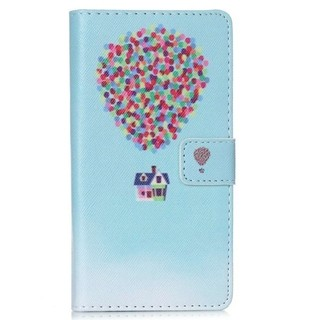 Smart Flip Cover Balloon PU Leather Wallet Card Holder For Huawei P8 Lite