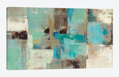 Teal and Aqua Reflections #2 canvas  - Silvia Vassileva - comprar online