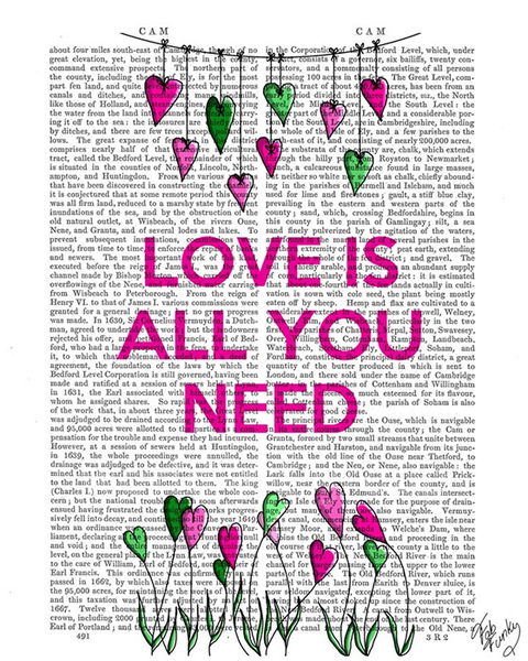 Love Is All You Need Illustration - Fab Funky - comprar online