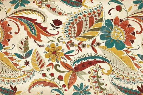 Boho Paisley Spice III - Wild Apple Graphics